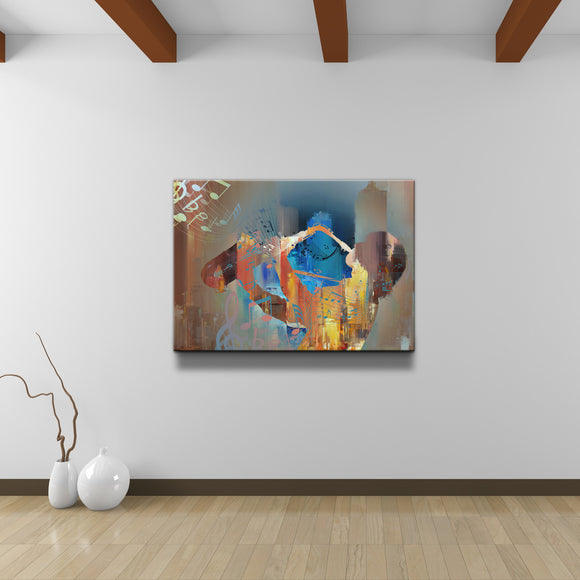 'The Color of Jazz V' Oversized Canvas Wall Art