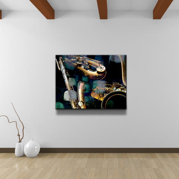 'The Color of Jazz VI' Oversized Canvas Wall Art