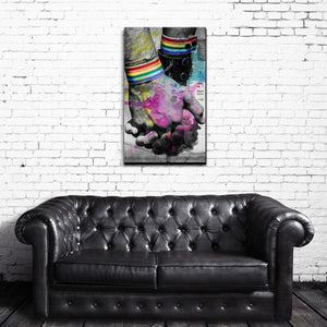 Hold Hands' Wrapped Canvas Wall Art