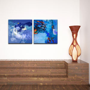 Ready2HangArt 'Blue Abstract Study' 2-pc Canvas Wall Art Set