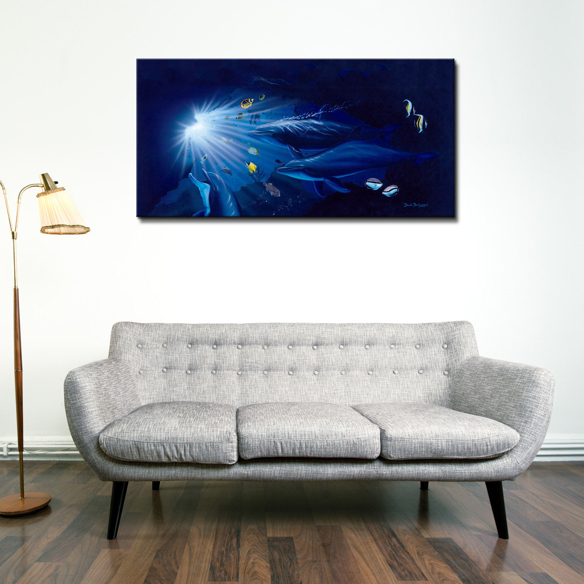 David Dunleavy 'Diving the Cathedrals' Canvas Wall Art