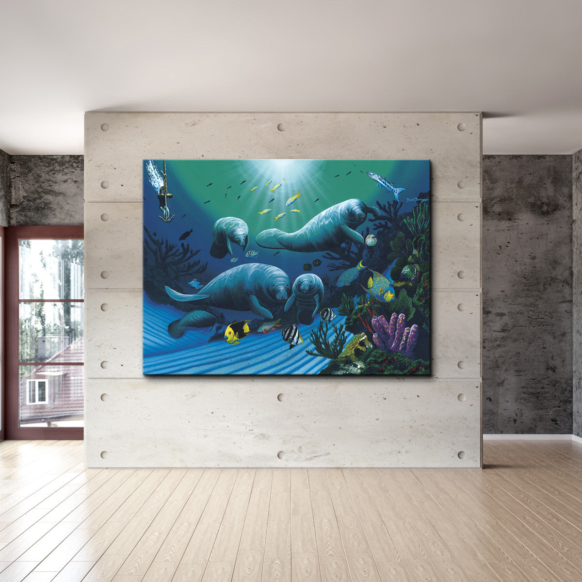 David Dunleavy 'Diving with Art Mckee' Canvas Wall Art