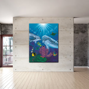 David Dunleavy 'Dolphin Reef' Canvas Wall Art