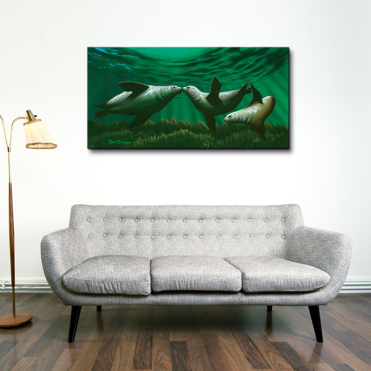 David Dunleavy 'Kissing Seals' Canvas Wall Art