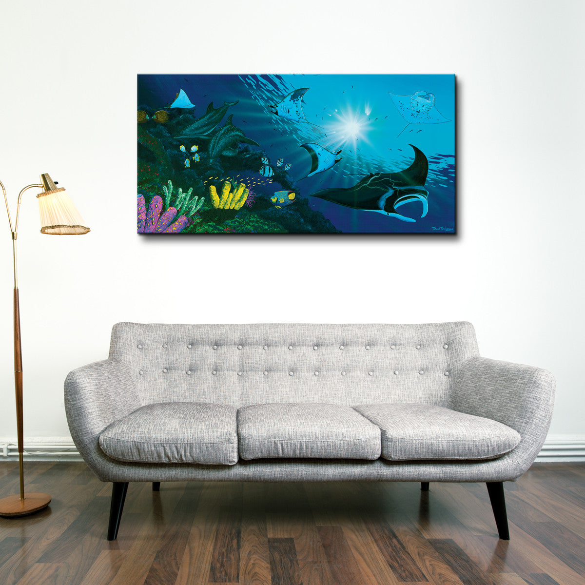 David Dunleavy 'Manta Rays' Canvas Wall Art