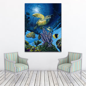 David Dunleavy 'Ocean Fest!' Canvas Wall Art