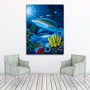 David Dunleavy 'Shark Fest' Canvas Wall Art