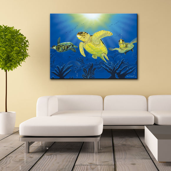 David Dunleavy 'Turtle Dreams' Canvas Wall Art