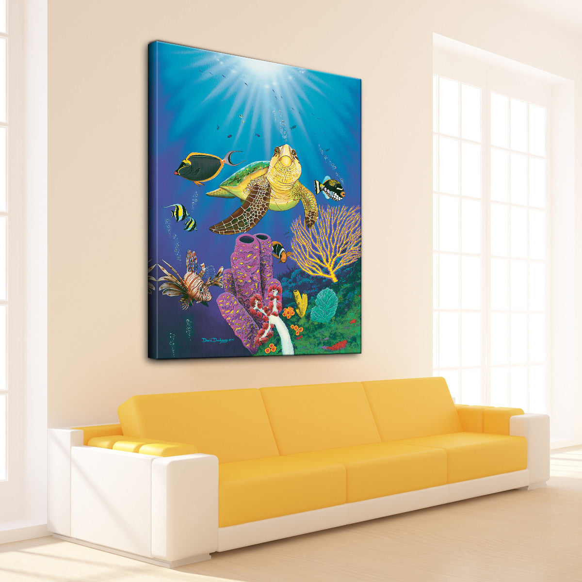 David Dunleavy 'Turtle Reef 2' Canvas Wall Art