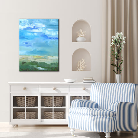'Bright Blue I' Ready2HangArt Canvas by Dana McMillan