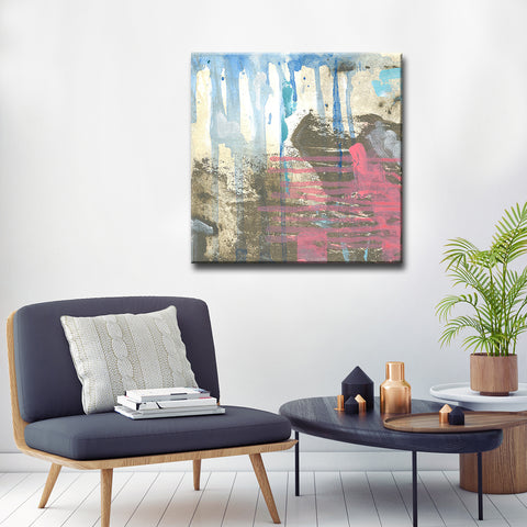 'Browns, Blues & Pink' Ready2HangArt Canvas by Dana McMillan