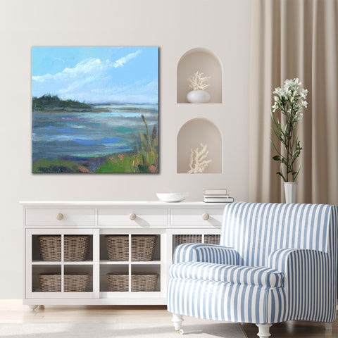 'Coral & Blues' Ready2HangArt Canvas by Dana McMillan