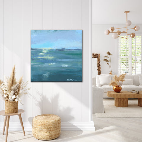 'Dusk on the Water' Ready2HangArt Canvas by Dana McMillan