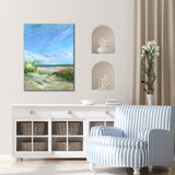 'Flowers & Seagrass' Ready2HangArt Canvas by Dana McMillan