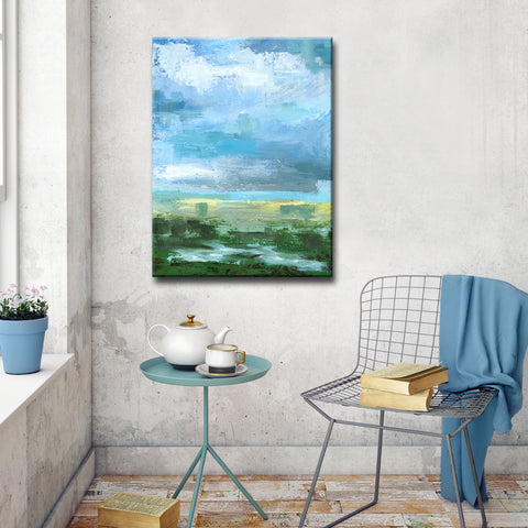 'Gray Blue Sky II' Ready2HangArt Canvas by Dana McMillan