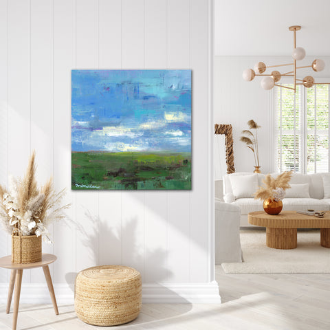 'Green Pastures' Ready2HangArt Canvas by Dana McMillan