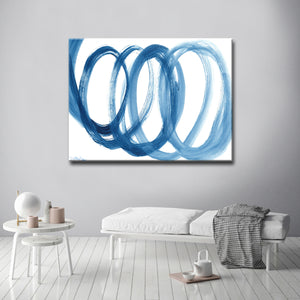 'Loopy Blue' Ready2HangArt Canvas by Dana McMillan