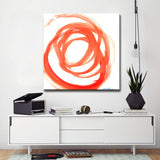 'Orange Swirl II' Ready2HangArt Canvas by Dana McMillan