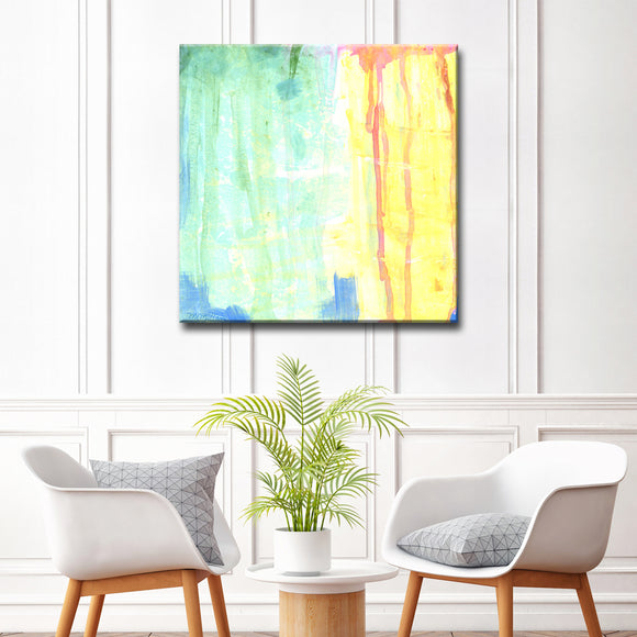 'Soft Green & Yellow' Ready2HangArt Canvas by Dana McMillan