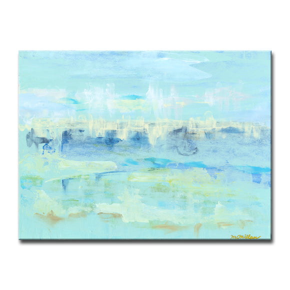 'Water Hints' Wrapped Canvas Wall Art