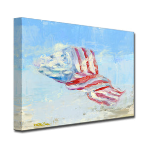 'Wind Blown Flag' Ready2HangArt Canvas by Dana McMillan