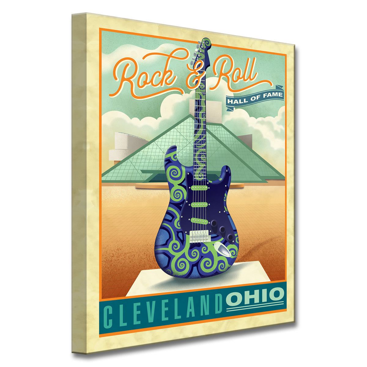 Ready2HangArt Canvas Art \'Rock & Roll- Cleveland\' by Dorothea Taylor
