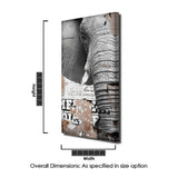 Ready2HangArt 'Saddle Ink Elephant VIII' Canvas Wall Art