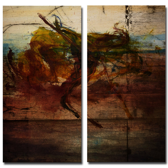 Ready2HangArt 'Earth Tone Abstract X' 2-PC Canvas Wall Art