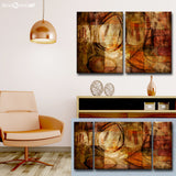 Ready2HangArt 'Earth Tone Abstract III' Oversized Canvas Wall Art Set