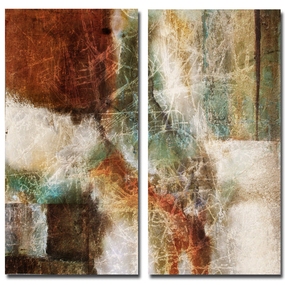 Ready2HangArt 'Earth Tone Abstract VIII' 2-PC Canvas Wall Art