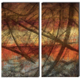 Ready2HangArt 'Earth Tone Abstract IX' 2-PC Canvas Wall Art