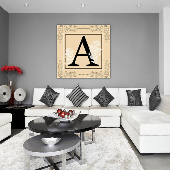 Ready2HangArt 'Luxe Monogram' Canvas Wall Art (30