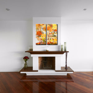 Ready2HangArt 'Fall Ink XI' Canvas Wall Art