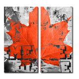 'Fall Ink XXIII' Wrapped Canvas Wall Art