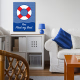 'You Float my Boat' Wrapped Canvas Wall Art