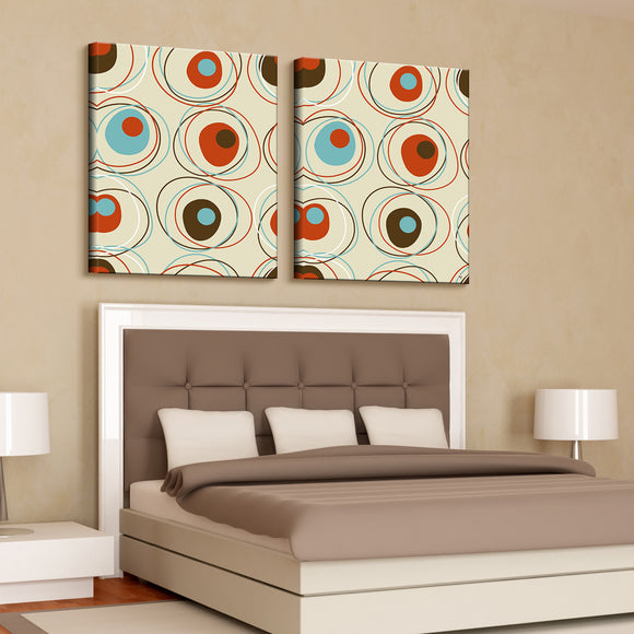 'Geometric Study IA'  40x60-inch Canvas Wall Art (2-PC Set)