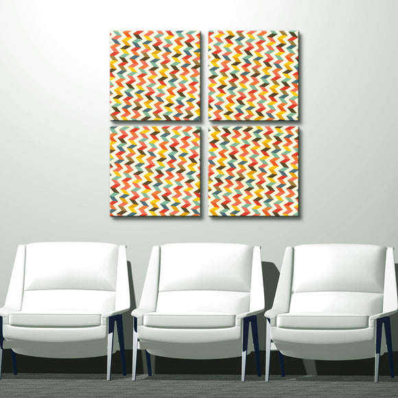 'Geometric Study IV' 32x32-inch Canvas Wall Art (4-Pc Set)
