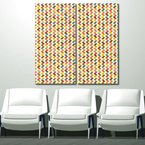 'Geometric Study IV-II B' 40x40-inch Canvas Wall Art (2-Pc Set)