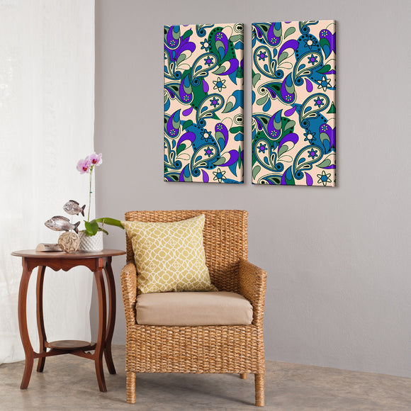 'Geometric Study VII-II' 24x24-inch Canvas Wall Art (2-PC Set)