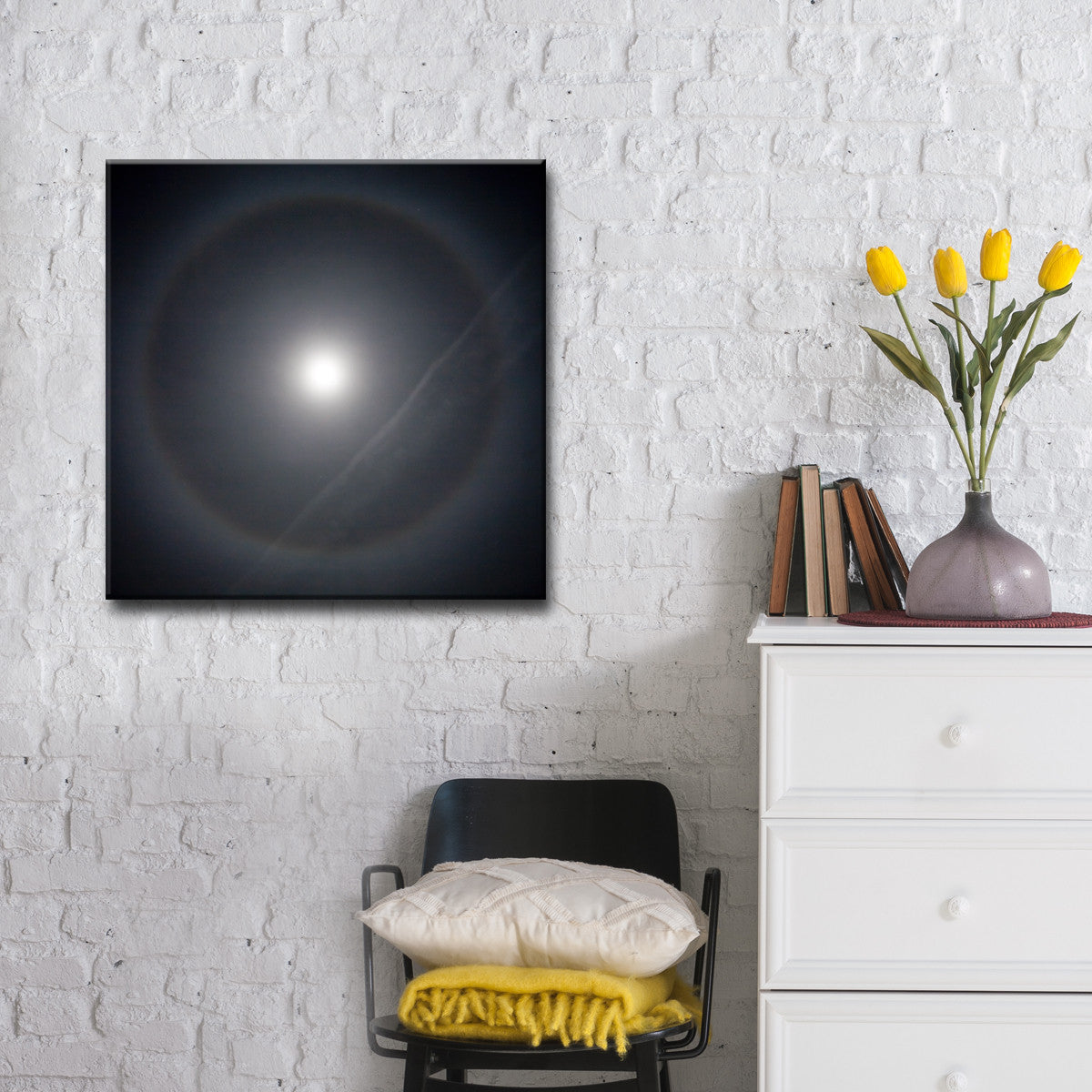 Ready2HangArt™ 'Moon Halo' by Bartlett Hayes Canvas Art