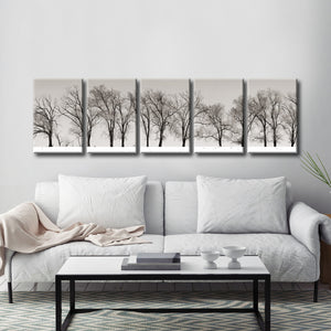 Ready2HangArt™ 'Winter Trees' by Bartlett Hayes Canvas Art Set