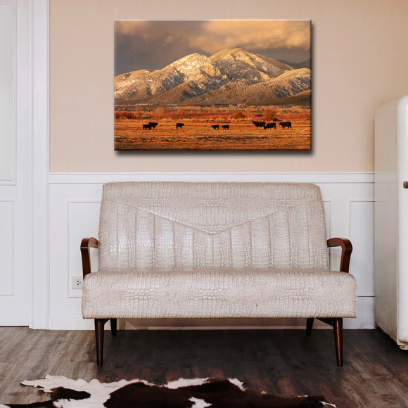 Ready2HangArt™ 'El Salto Cattle' by Bartlett Hayes Canvas Art