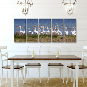 'Pelicans' Wrapped Canvas Wall Art Set