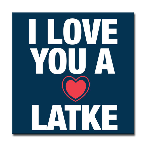 Ready2HangArt 'I Love you a Latke III' Hanukkah Canvas Wall Art