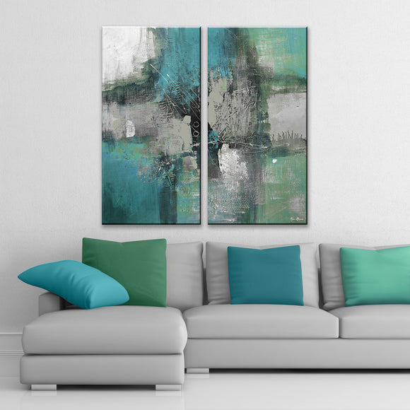 Ready2HangArt 'Inkd XXXII' 2-piece Canvas Art Set