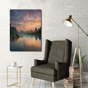 Ready2HangArt Indoor/Outdoor Wall Décor 'Li River Sunrise' in ArtPlexi