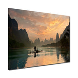 Ready2HangArt Indoor/Outdoor Wall Décor 'Golden Li River' in ArtPlexi