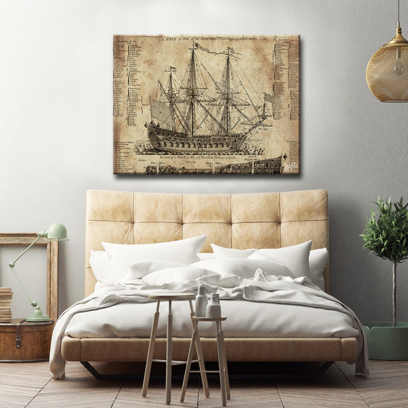 Ready2HangArt 'Old Dark Moon' Canvas Art Print