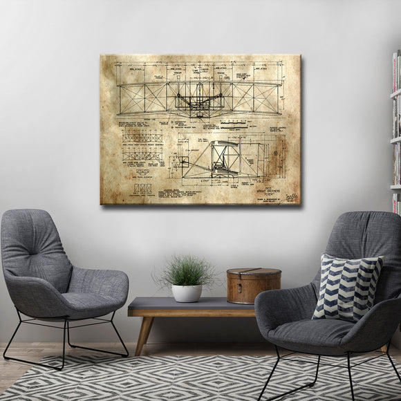 Ready2HangArt 'Watching Airplanes' Canvas Art Print