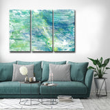 Max+E 'Cool Aqua Ocean Reef' 3-Piece Canvas Art Set
